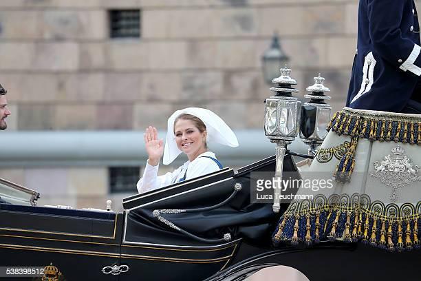 Princess Madeleine of Sweden attends the National Day Celebrations on June 6 2016 in Stockholm Sweden