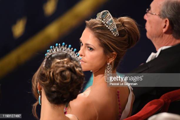 Princess Madeleine of Sweden attends the Nobel Prize Awards Ceremony at Concert Hall on December 10, 2019 in Stockholm, Sweden.
