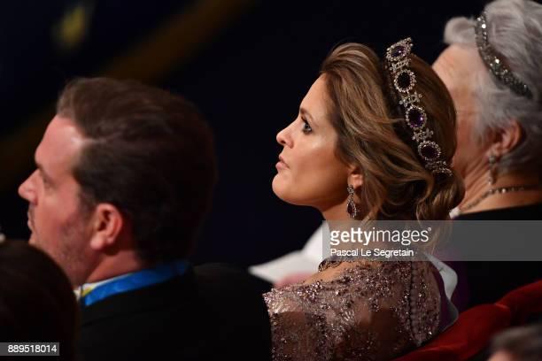 Princess Madeleine of Sweden attends the Nobel Prize Awards Ceremony at Concert Hall on December 10 2017 in Stockholm Sweden