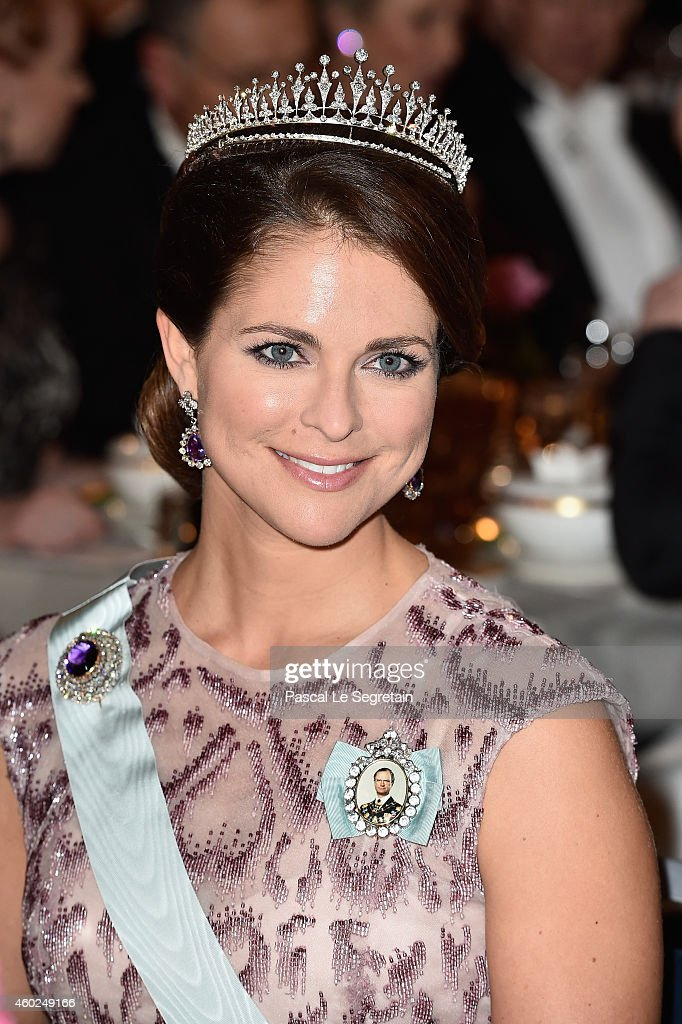 Princess Madeleine of Sweden attends the Nobel Prize Banquet 2014 at City Hall on December 10, 2014 in Stockholm, Sweden.