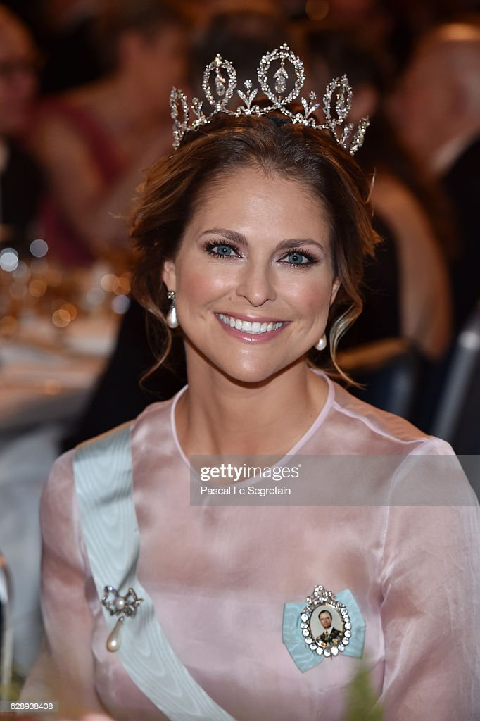 Princess Madeleine of Sweden attends the Nobel Prize Banquet 2015 at City Hall on December 10, 2016 in Stockholm, Sweden.