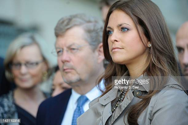 Princess Madeleine of Sweden attends the Raoul Wallenberg commemorative event at the United States Holocaust Memorial Museum on April 19 2012 in...