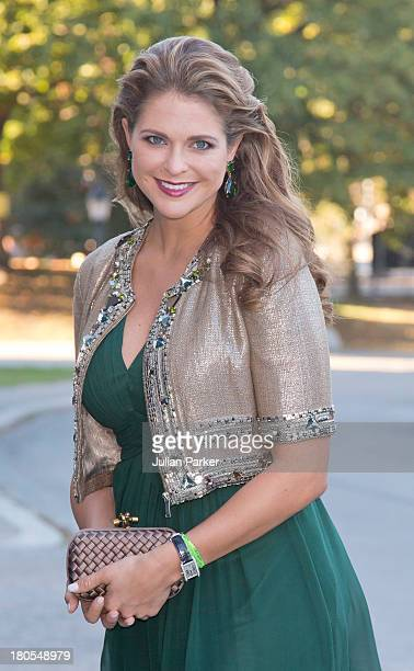 Princess Madeleine of Sweden attends the Swedish Government dinner to celebrate King Carl Gustaf's 40th Jubilee at Nordiska Museum on September 14...