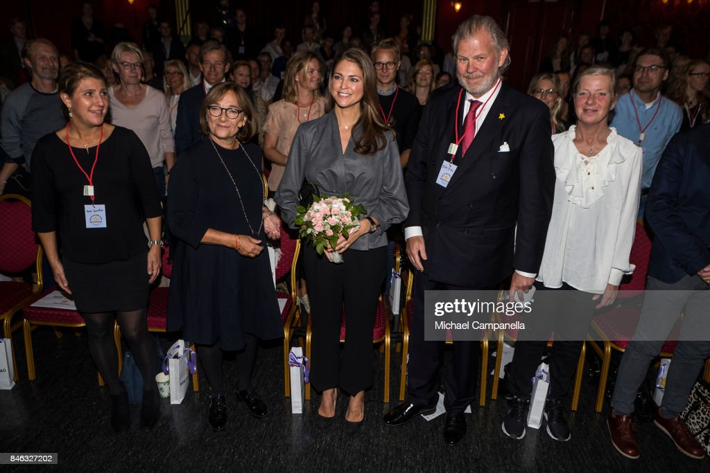 Princess Madeleine of Sweden (Center) attends the 'The Invisibility Project' seminar hosted by My Great-Day foundation at Grona Lund on September 13, 2017 in Stockholm, Sweden.