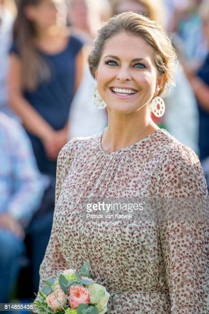 Princess Madeleine of Sweden attends the Victoria day celebration on the occasion of The Crown Princess Victoria of Sweden's 40th birthday...