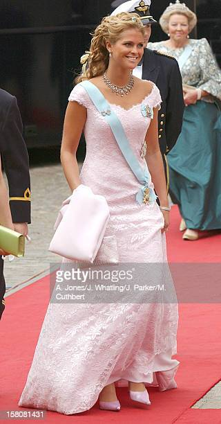 Princess Madeleine Of Sweden Attends The Wedding Of Crown Prince Frederik Mary Donaldson At The Vor Frue Kirke Catherdal In Copenhagen