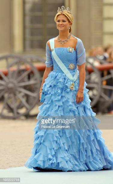 Princess Madeleine of Sweden attends the Wedding of Crown Princess Victoria of Sweden and Daniel Westling on June 19 2010 in Stockholm Sweden