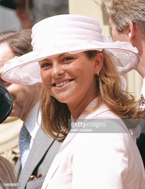 Princess Madeleine Of Sweden Attends The Wedding Of Princess Alexia Of Greece And Carlos Morales Quintana At The St. Sophia Cathedral In London. .