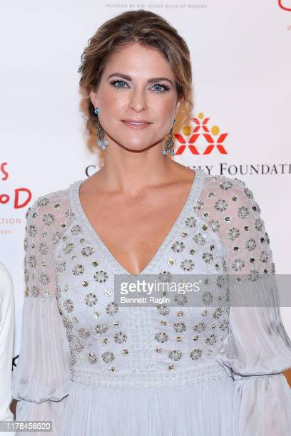 Princess Madeleine of Sweden attends the World Childhood Foundation USA's 20th Anniversary Thank You Gala 2019 at the Plaza on October 01 2019 in New...