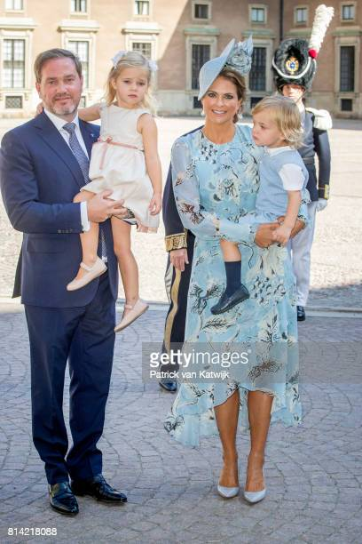 Princess Madeleine of Sweden Chris O'Neill Princess Leonore of Sweden and Prince Nicolas of Sweden arrive for a thanksgiving service on the occasion...
