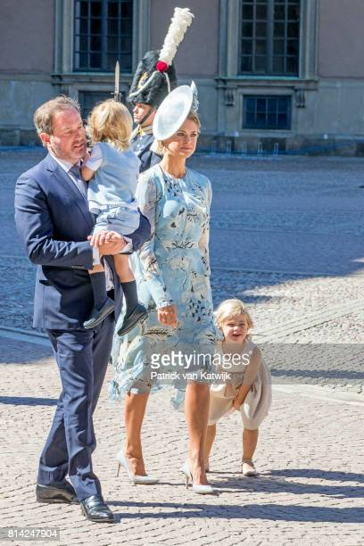 Princess Madeleine of Sweden Chris O'Neill Princess Leonore of Sweden and Prince Nicolas of Sweden after the thanksgiving service on the occasion of...