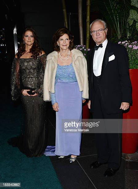 HRH Princess Madeleine of Sweden HM Queen Silvia of Sweden and HM King Carl XVI Gustaf of Sweden attend the 2012 SwedishAmerican Chamber of Commerce...