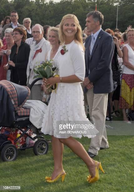 Princess Madeleine of Sweden in Oland Sweden on July 14th 2009