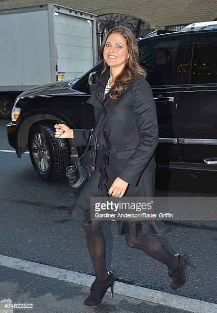 Princess Madeleine of Sweden is seen arriving for the Swedish American Chamber of Commerce's annual Christmas lunch on December 04 2012 in New York...