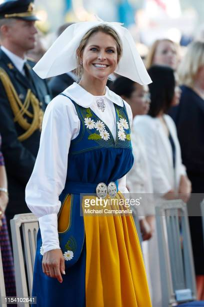 Princess Madeleine of Sweden participates in a ceremony celebrating Sweden's national day at Skansen on June 06 2019 in Stockholm Sweden
