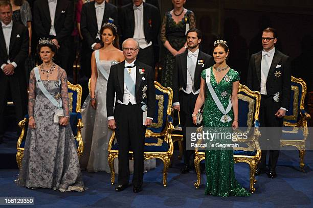 Princess Madeleine of Sweden Prince Carl Philip of Sweden and Prince Daniel of Sweden and Queen Silvia of Sweden King Carl XVI Gustaf of Sweden and...