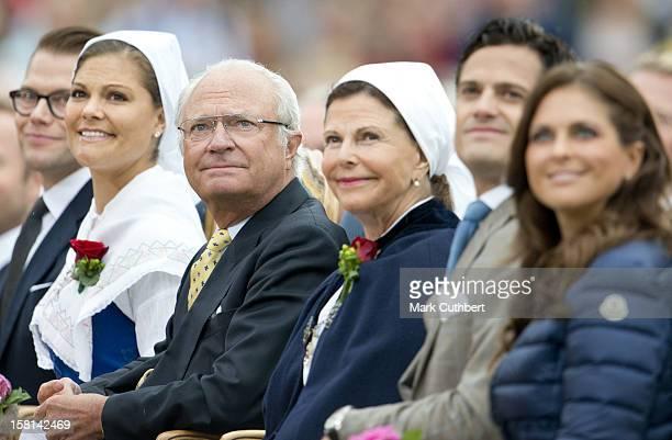 Princess Madeleine Of Sweden, Prince Daniel Of Sweden, Prince Carl Philip Of Sweden, Queen Silvia Of Sweden, King Carl Xvi Gustaf Of Sweden And...