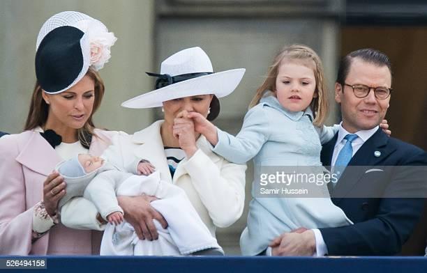 Princess Madeleine of Sweden Prince Oscar of Sweden Crown Princess Victoria of Sweden Prince Daniel of Sweden and Princess Estelle of Sweden attend...