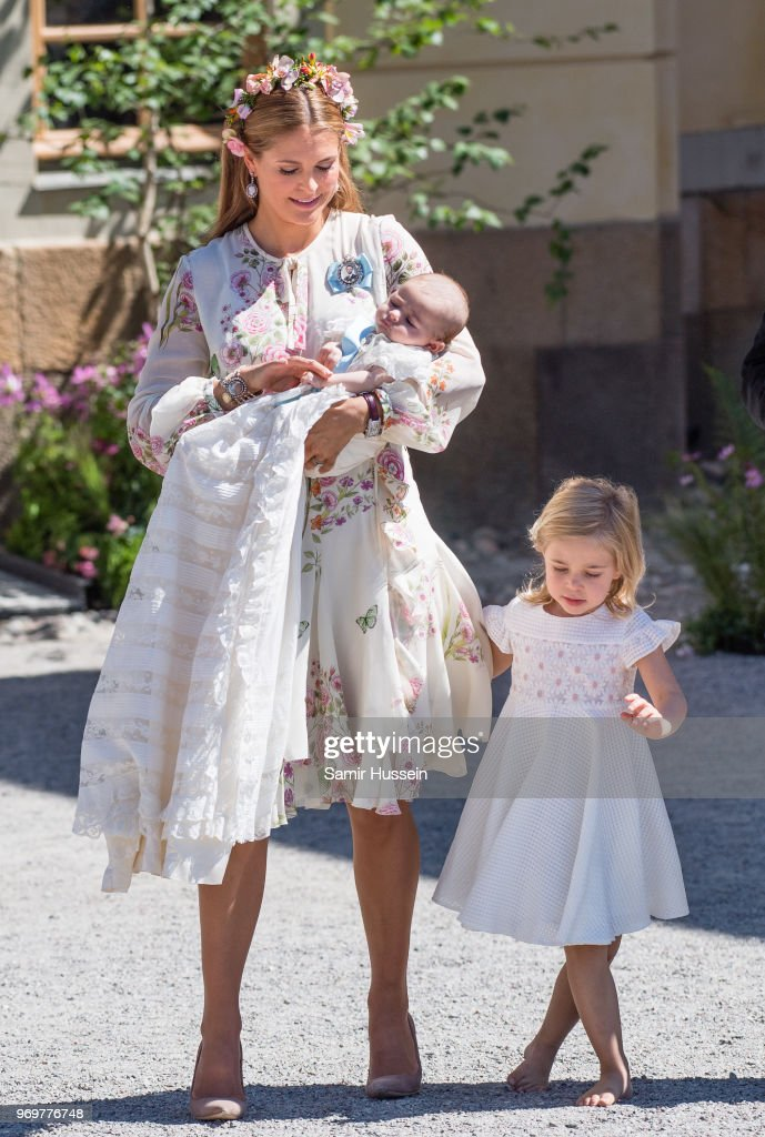 Christening  Of Princess Adrienne Of Sweden : News Photo