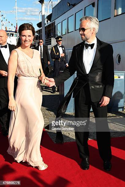 Princess Maertha Louise of Norway and her husband Ari Behn arrive for the private PreWedding Dinner of Swedish Prince Carl Philip and Sofia Hellqvist...