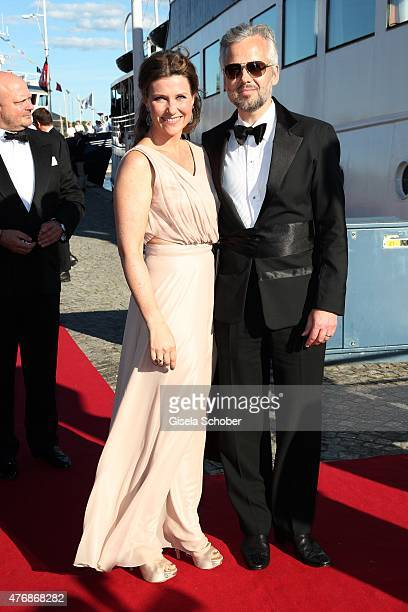 Princess Maertha Louise of Norway and her husband Ari Behn arrive for the private Pre-Wedding Dinner of Swedish Prince Carl Philip and Sofia...