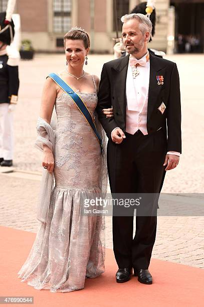 Princess Maertha Louise of Norway and her husband Ari Behn attend the royal wedding of Prince Carl Philip of Sweden and Sofia Hellqvist at The Royal...