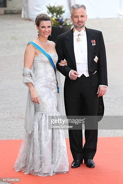 Princess Maertha Louise of Norway and husband Ari Behn attend the royal wedding of Prince Carl Philip of Sweden and Sofia Hellqvist at The Royal...