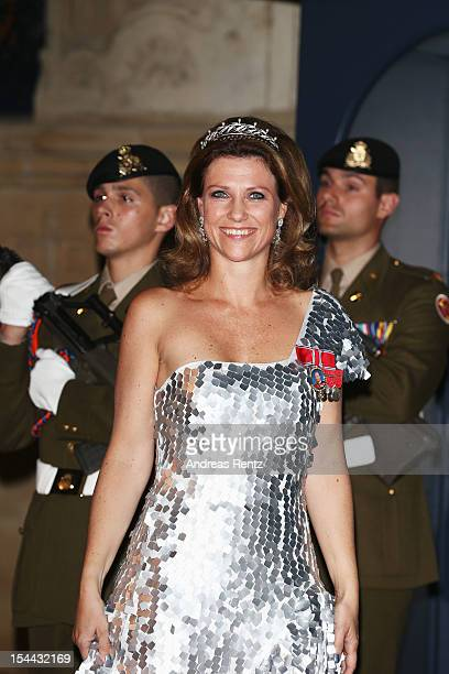 Princess Maertha Louise of Norway attends the Gala dinner for the wedding of Prince Guillaume Of Luxembourg and Stephanie de Lannoy at the...