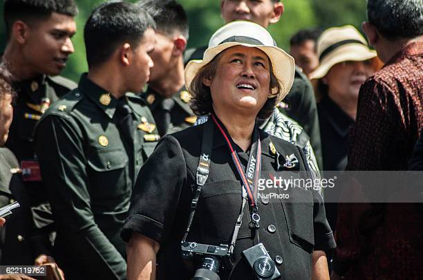 Princess Maha Chakri Sirindhorn eldest daughter of the late King of Thailand Bhumibol Adulyadej visit Prambanan Temple Yogyakarta Indonesia on 10...