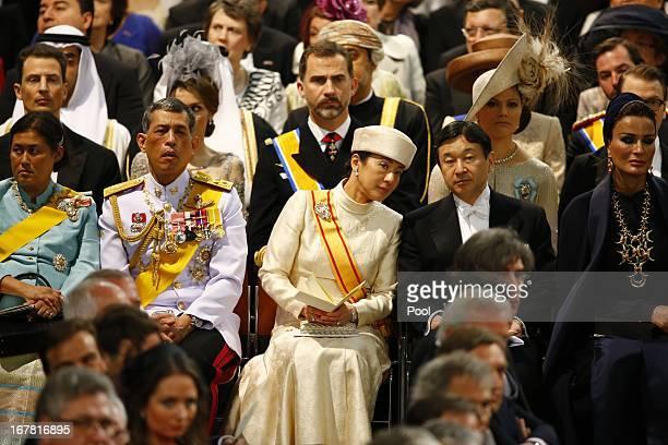 Princess Maha Chakri Sirindhorn Prince Vajiralongkorn of Thailand Princess Masako of Japan Prince Naruhito of Japan and Sjeikha Moza bint Nasser al...