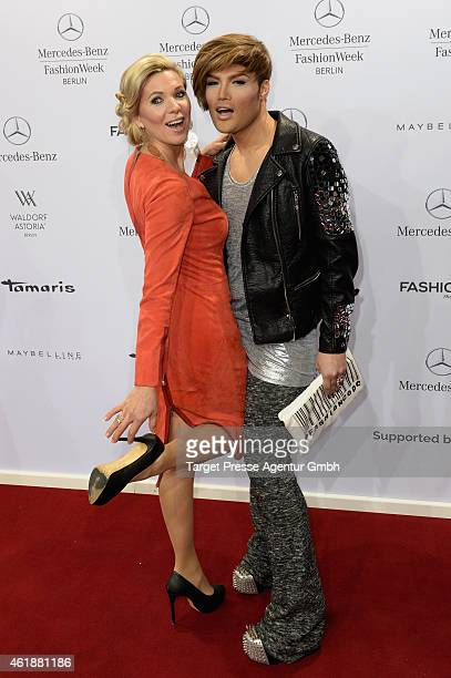 Princess Maja Synke of Hohenzollern and guest attend the Glaw show during the MercedesBenz Fashion Week Berlin Autumn/Winter 2015/16 at Brandenburg...