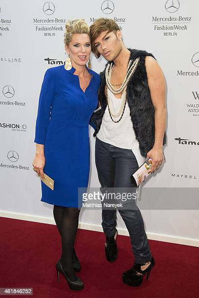 Princess Maja Synke of Hohenzollern and guest attend the Riani show during the MercedesBenz Fashion Week Berlin Autumn/Winter 2015/16 at Brandenburg...