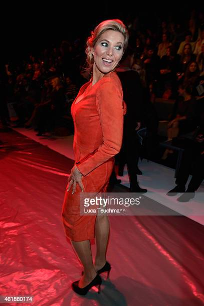 Princess Maja Synke of Hohenzollern attends the Glaw show during the MercedesBenz Fashion Week Berlin Autumn/Winter 2015/16 at Brandenburg Gate on...