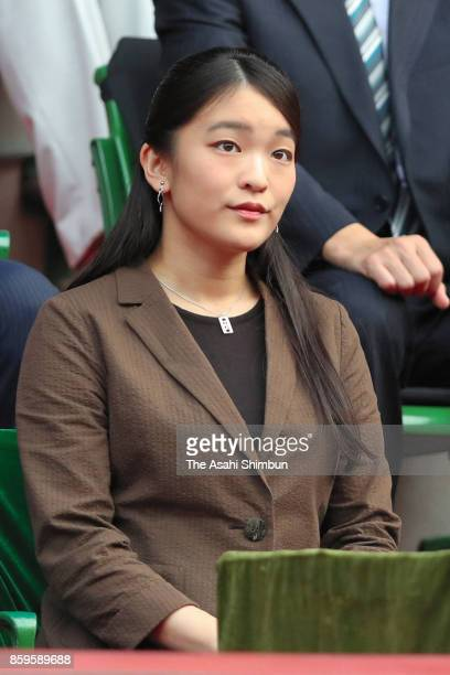 Princess Mako of Akishino attends during day seven of the Rakuten Open at Ariake Coliseum on October 8 2017 in Tokyo Japan