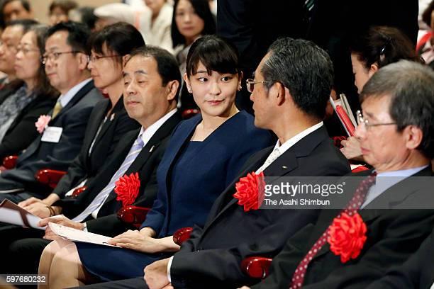 Princess Mako of Akishino attends the High School Finger Language Contest at Yurakucho Asahi Hall on August 27 2016 in Tokkyo Japan