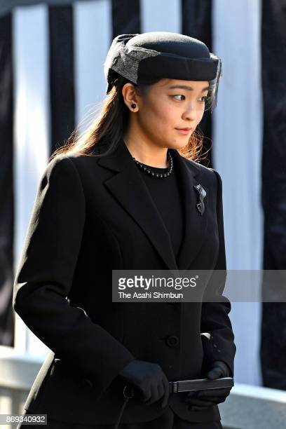 Princess Mako of Akishino attends the memorial ceremony marking the first anniversary of death of Prince Mikasa at Toshimagaoka Cemetery on October...