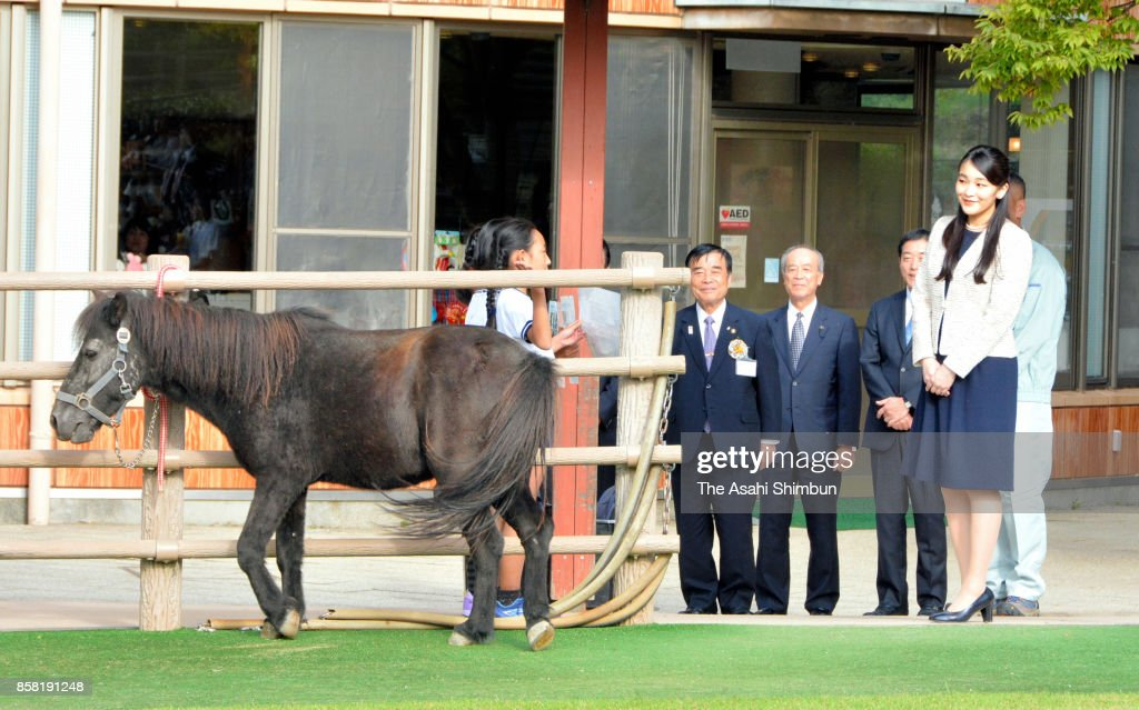 Princess Mako of Akishino is seen at a Noma Horse Club on October 5, 2017 in Imabari, Ehime, Japan.