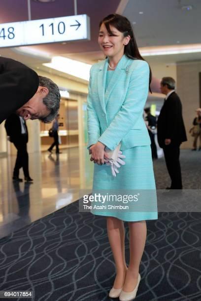 Princess Mako of Akishino is seen on arrival at Haneda International Airport after her visit to Bhutan on June 8 2017 in Tokyo Japan
