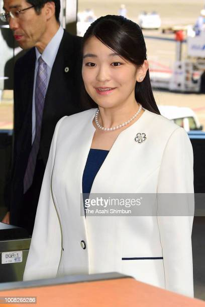 Princess Mako of Akishino is seen on arrival at Narita International Airport after visiting Brazil on July 31 2018 in Narita Chiba Japan
