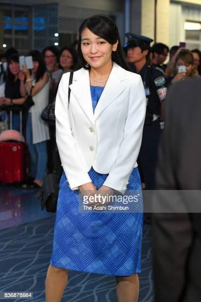 Princess Mako of Akishino is seen on departure at Haneda International Airport on August 19 2017 in Tokyo Japan