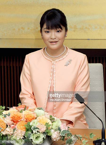 Princess Mako of Akishino speaks during a press conference ahead of her 20th birthday at the Akasaka Estate on October 16 2011 in Tokyo Japan
