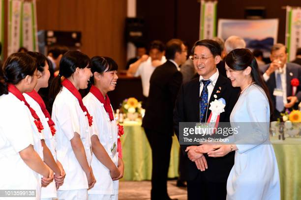 Princess Mako of Akishino visits Daisenji Temple on August 8 2018 in DaisenTottori Japan