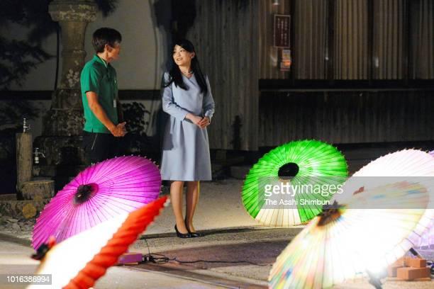 Princess Mako of Akishino visits Daisenji Temple on August 8 2018 in DaisenTottori Japan