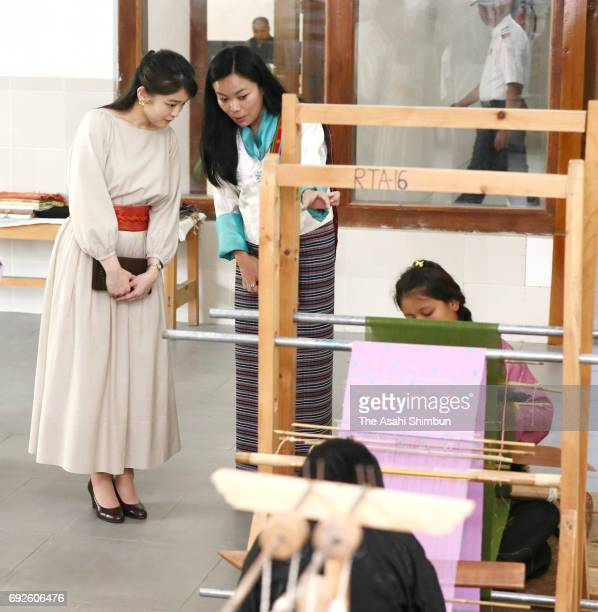 Princess Mako of Akishino visits the Bhutan Textile Museum on June 3 2017 in Thimphu Bhutan