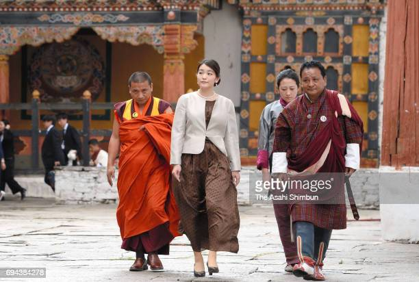 Princess Mako of Akishino visits the Rinpung Dzong Buddhist monastery on June 5 2017 in Paro Bhutan