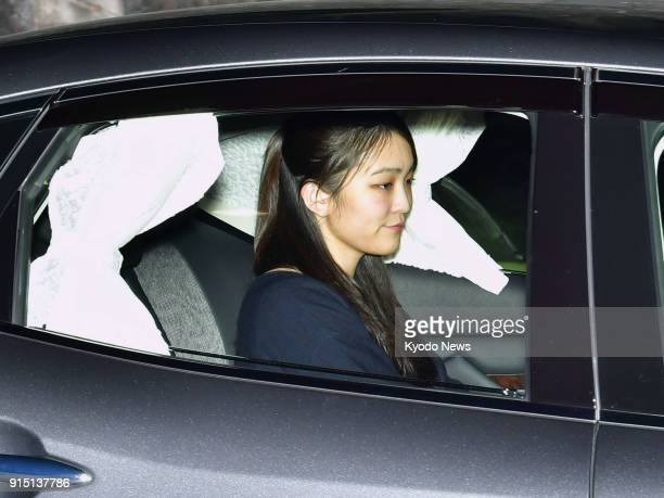 Princess Mako the eldest granddaughter of Emperor Akihito is driven into the Akasaka Estate in Tokyo on Feb 6 2018 The Imperial Household Agency said...