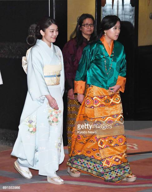 Princess Mako the first grandchild of Japanese Emperor Akihito and Empress Michiko heads to an event introducing Japanese culture on June 2 in...