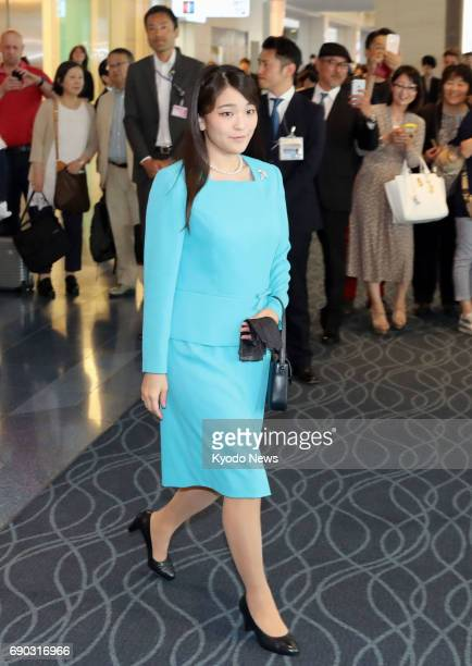 Princess Mako the granddaughter of Japanese Emperor Akihito and Empress Michiko leaves Tokyo's Haneda airport on May 31 for a nineday official visit...