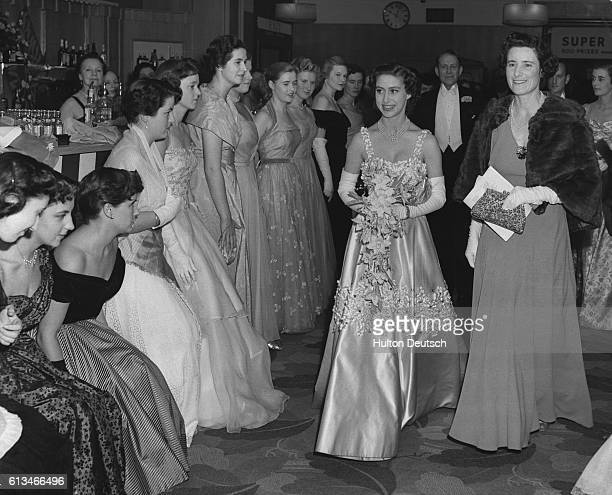 Princess Margaret amongst other guests at a ball in aid of the Marylebone Housing Association at Selfridges in London