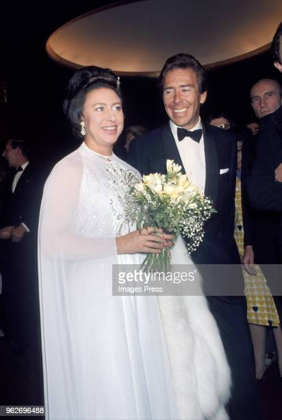 Princess Margaret and Antony Armstrong-Jones attend the Royal Ballet at the MET circa May 1974 in New York City.